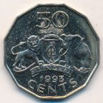 Свазиленд, 50 центов (1993 г.)