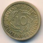 Веймарская республика, 10 рентенпфеннигов (1924 г.)