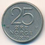 Норвегия, 25 эре (1977–1980 г.)