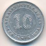 Стрейтс-Сетлментс, 10 центов (1894 г.)