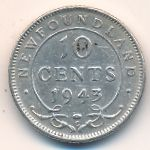Ньюфаундленд, 10 центов (1943 г.)
