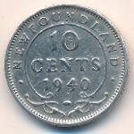 Ньюфаундленд, 10 центов (1940 г.)