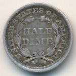 США, 1/2 дайма (1858 г.)
