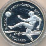 Багамские острова, 5 долларов (1993 г.)