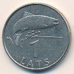 Латвия, 1 лат (2008 г.)