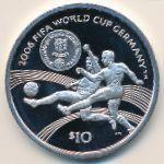 Виргинские острова, 10 долларов (2004 г.)