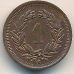 Швейцария, 1 раппен (1908 г.)