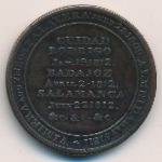 Wellington, 1/2 penny, 1812