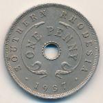 Южная Родезия, 1 пенни (1937 г.)