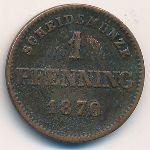 Бавария, 1 пфеннинг (1870 г.)