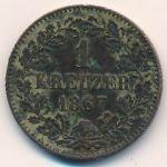 Баден, 1 крейцер (1867 г.)