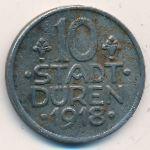 Дюрен., 10 пфеннигов (1918 г.)