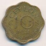 Цейлон, 10 центов (1944 г.)