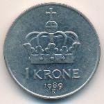 Норвегия, 1 крона (1989 г.)