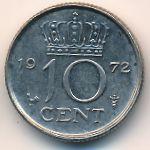 Нидерланды, 10 центов (1972 г.)