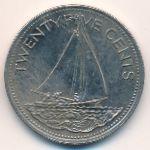Багамские острова, 25 центов (1991–2005 г.)