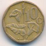ЮАР, 10 центов (1990–1995 г.)