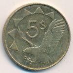 Намибия, 5 долларов (2012 г.)