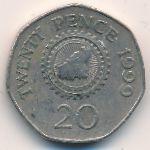 Гернси, 20 пенсов (1999 г.)