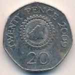 Гернси, 20 пенсов (2009 г.)