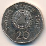 Гернси, 20 пенсов (2009–2012 г.)