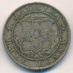 Ямайка, 1/2 пенни (1880 г.)
