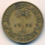 Британская Западная Африка, 1 шиллинг (1938 г.)