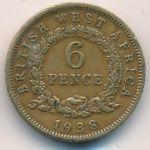 Британская Западная Африка, 6 пенсов (1938–1940 г.)