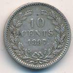 Нидерланды, 10 центов (1897 г.)