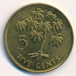 Сейшелы, 5 центов (1982 г.)