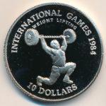 Либерия, 10 долларов (1984 г.)