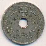British West Africa, 1 penny, 1907–1910