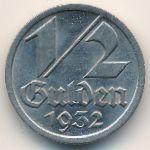 Данциг, 1/2 гульдена (1932 г.)