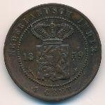 Нидерландская Индия, 1 цент (1859 г.)