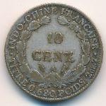 Французский Индокитай, 10 центов (1923–1929 г.)