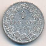 Гессен-Дармштадт, 6 крейцеров (1846 г.)
