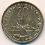 Французское Сомали, 20 франков (1952 г.)