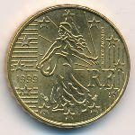 Франция, 10 евроцентов (1999 г.)