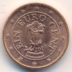 Австрия, 1 евроцент (2005 г.)