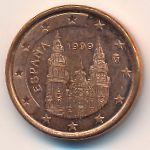 Испания, 1 евроцент (1999 г.)