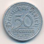 Веймарская республика, 50 пфеннигов (1922 г.)