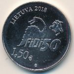 Литва, 1 1/2 евро (2018 г.)
