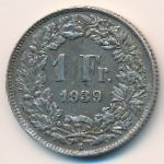 Швейцария, 1 франк (1939 г.)