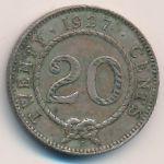 Саравак, 20 центов (1927 г.)