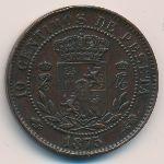 Испания, 10 сентимо (1875 г.)