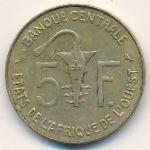 Западная Африка, 5 франков (1974 г.)