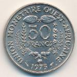 Западная Африка, 50 франков (1975 г.)