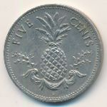 Багамские острова, 5 центов (1987 г.)