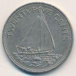 Багамские острова, 25 центов (1991 г.)