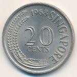 Сингапур, 20 центов (1968 г.)
